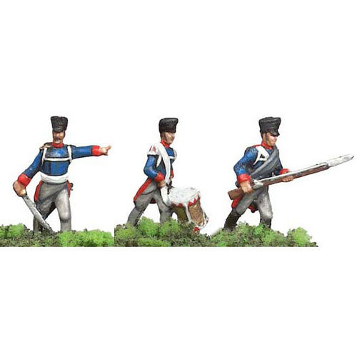 Prince August Zinngiessform Preussische Grenadiere  25mm