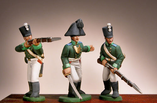 Prince August Zinngiessform Russische Infanteristen  25mm