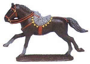Prince August Zinngiessform  Offiziers- Pferd  543B 25mm