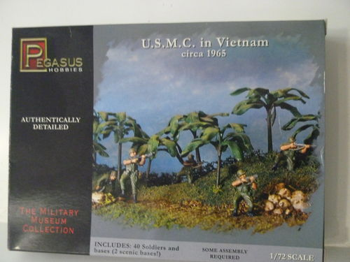 U.S.M.C.  in Vietnam   ca. 1965          1/72 Scale